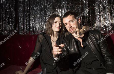 Samantha Rollinon and Miles Kane