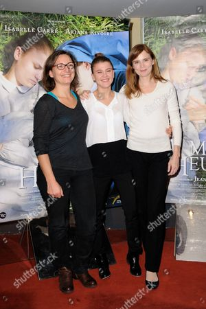 Stock Image of Noemie Churlet, Ariana Rivoire and Isabelle Carre
