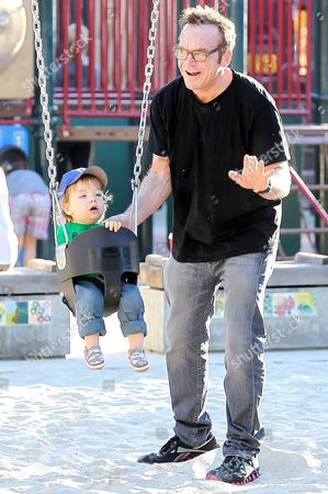 Tom Arnold and son Jax Copeland Arnold