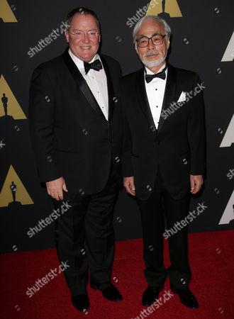 John Lasseter and Hayao Miyazaki