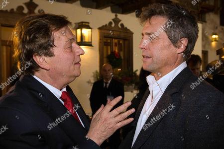 Michael Aufhauser and Hugh Grant