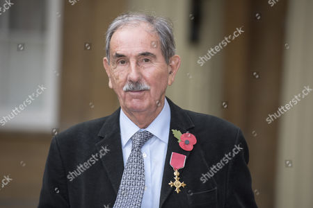 Hunter Davies, Author seen after receiving his OBE for services to Literature