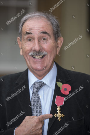 Hunter Davies., Author seen after receiving his OBE for services to Literature