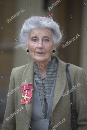 Phyllida Law seen after receiving her OBE for services to Drama and for charitable services