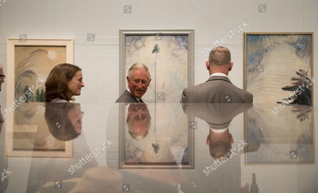 Prince Charles with Ian Dejardin, co-curator and Sackler Director of Dulwich Picture Gallery and co-curator Sarah Milroy