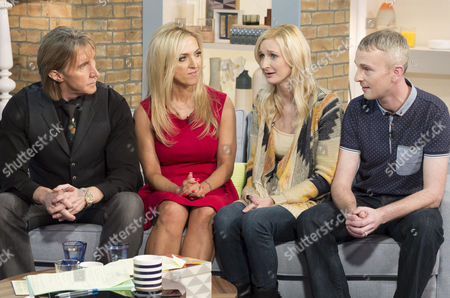 Stock Picture of Nik and Eva Speakman with Zara Ashton and Ian Andreassen