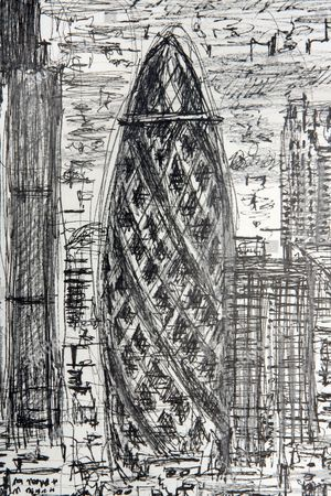 Stephen Wiltshire's panorama of London