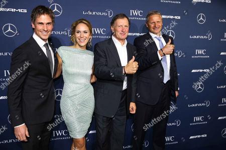 Felix Gottwald, Kathi Worndl, Franz Klammer and Stefan Bloecher