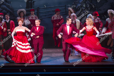 Rachel Stanley (Betty Haynes), Aled Jones (Bob Wallace), Tom Chambers (Phil Davis) and Louise Bowden (Judy Haynes) during the curtain call