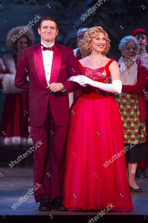 Tom Chambers (Phil Davis) and Louise Bowden (Judy Haynes) during the curtain call