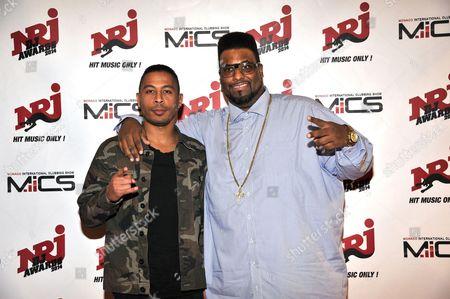 French DJ, DJ Assad (L) and American singer-songwriter, DJ, and rapper, Big Ali