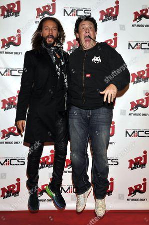 French record producer, house music DJ, remixer, Bob Sinclar (L) and French DJ, remixer and producer, Joachim Garraud