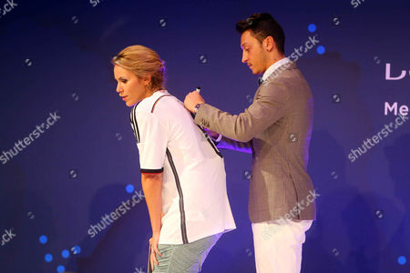 Kathi Worndl and Mesut Oezil