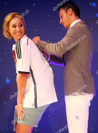 Stock Picture of Kathi Worndl and Mesut Oezil