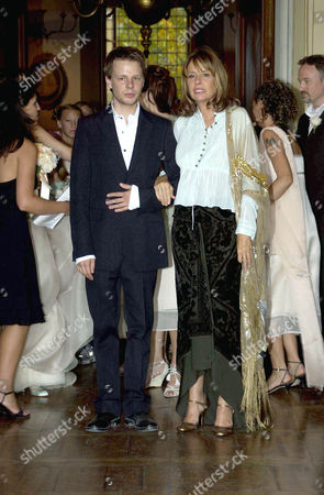 Editorial image of THE WEDDING OF ANNA GETTY AND GREGORY PRUSS, VILLA DI MAIANO, FLORENCE, ITALY - 09 AUG 2003