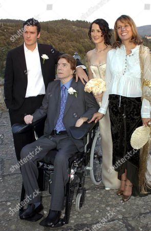 JOHN PAUL GETTY III WITH SON BALTHAZAR WITH DAUGHTER ANNA AND EX WIFE GISELA GETTY