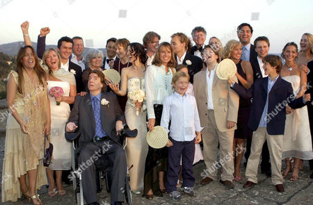 Editorial picture of THE WEDDING OF ANNA GETTY AND GREGORY PRUSS, VILLA DI MAIANO, FLORENCE, ITALY - 09 AUG 2003