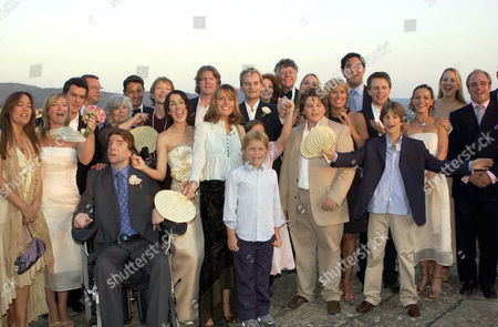 Editorial photo of THE WEDDING OF ANNA GETTY AND GREGORY PRUSS, VILLA DI MAIANO, FLORENCE, ITALY - 09 AUG 2003