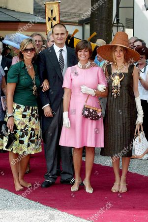 PRINCESS GLORIA VON THURN UND TAXIS WITH SON ALBERT AND DAUGHTERS ELISABETH AND MARIA THERESIA