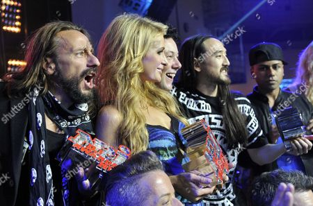 Bob Sinclar, Paris Hilton, Joachim Garraud and Steve Aoki