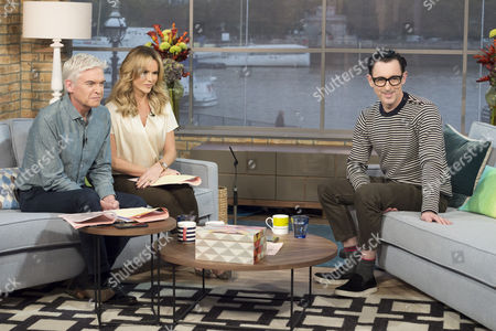 Stock Photo of Phillip Schofield and Amanda Holden with Alan Cumming