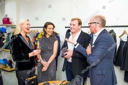Stock Picture of Emma Farah, Lady Dalit Nuttall, Marc Farah and Sir Harry Nuttall