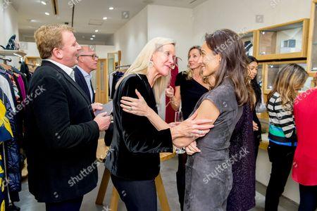 Stock Image of Marc Farah, Emma Farah and Lady Dalit Nuttall