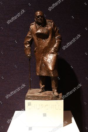 Winston Churchill maquette for monument in Parliament Square by Ivor Roberts-Jones