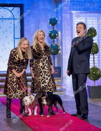 JoAnne Good and Anna Webb with Alan Titchmarsh