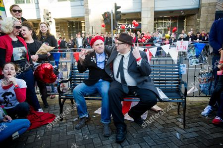 Editorial image of Unveiling of 'Bottom' bench in tribute to the late Rik Mayall, Hammersmith gyratory, London, Britain - 14 Nov 2014