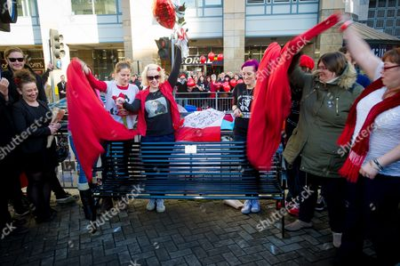 Editorial photo of Unveiling of 'Bottom' bench in tribute to the late Rik Mayall, Hammersmith gyratory, London, Britain - 14 Nov 2014