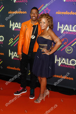Stock Photo of Nick Cannon and his mother Beth Gardner