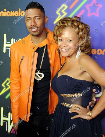 Stock Picture of Nick Cannon and mother Beth Gardner