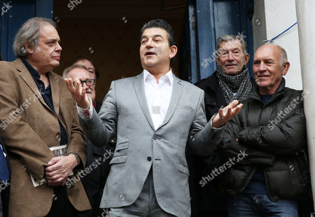 Stock Picture of John Altman, Songlink publisher David Stark, Dave Berry and The Who's manager Bill Curbishley