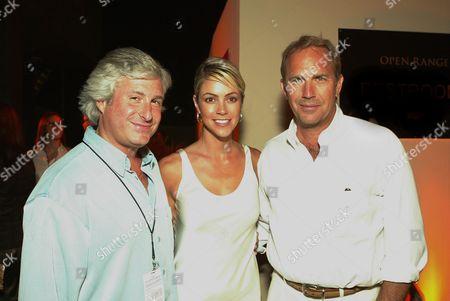 Charles Lyons, Christine Baumgartner and Kevin Costner