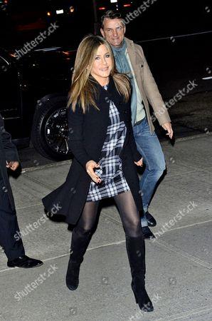 Stock Picture of Jennifer Aniston and Stephen Huvane