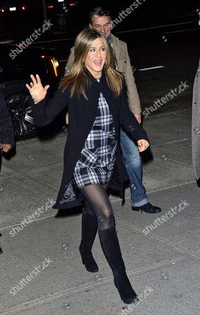 Jennifer Aniston and Stephen Huvane