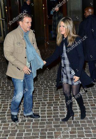 Stock Image of Jennifer Aniston and Stephen Huvane