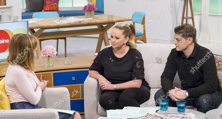 Kate Garraway with Jennifer Ellison and husband Robbie Tickle