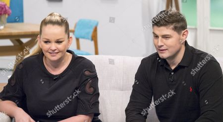 Stock Picture of Jennifer Ellison and husband Robbie Tickle