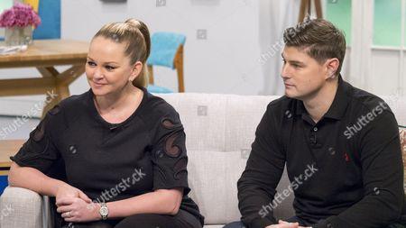 Stock Image of Jennifer Ellison and husband Robbie Tickle