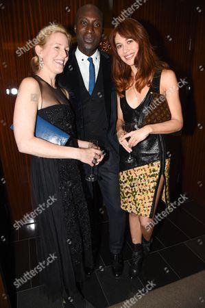 Sydney Ingle Finch, Ozwald Boateng and Olga Kurylenko
