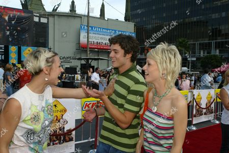 Samaire Armstrong, Adam Brody and Emily Montague
