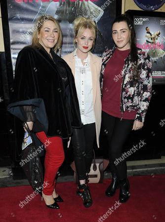 Nicole Barber Lane, Jorgie Porter and Twinnie-Lee Moore