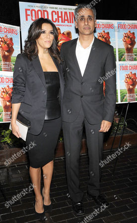 Stock Picture of Eva Longoria and Sanjay Rawal