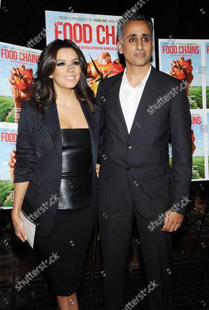Stock Photo of Eva Longoria and Sanjay Rawal