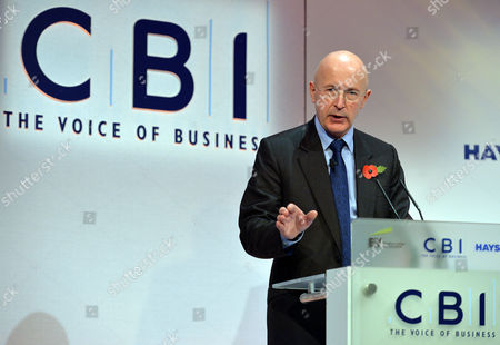 Stock Image of Sir Philip Hampton Chairman Rbs Group At Conference. - Cbi (confederation Of British Industries) Conference At The Hilton Metropole Hotel London. -.