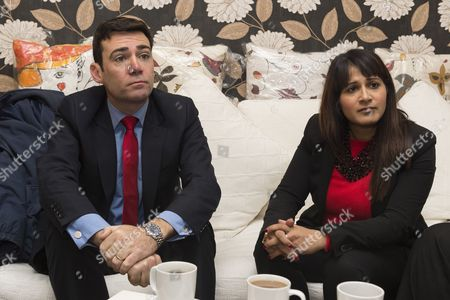 Andy Burnham and Naushabah Khan