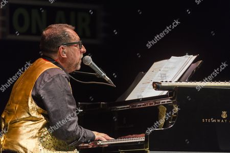 Editorial photo of Steve Nieve and Tall Ulyss in concert at the Cirque Royal, Brussels, Belgium - 27 Oct 2014