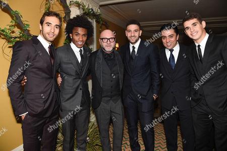 Mathieu Flamini, Willian, Domenico Dolce, Adel Taarabt, guest and Oscar dos Santos Emboaba Junior